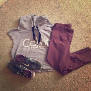 Calvin Klein crip top muscle sweatshirt